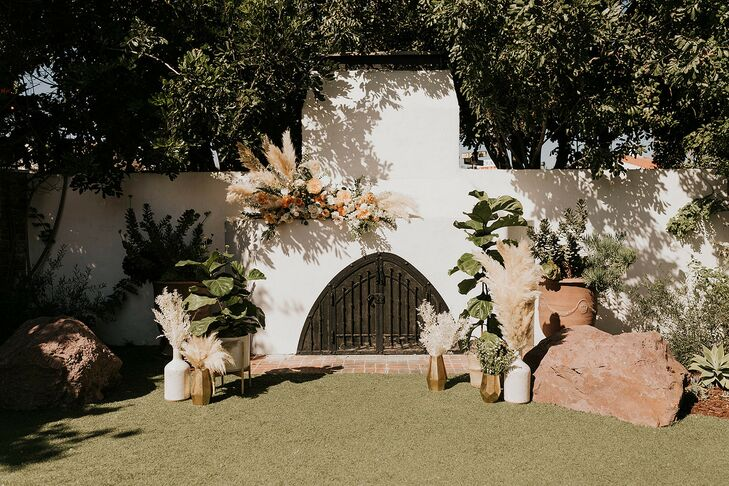 Romantic, Bohemian Ceremony Site at The Casino San Clemente in San Clemente, California