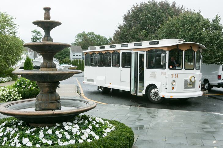 White Trolley Wedding Transportation