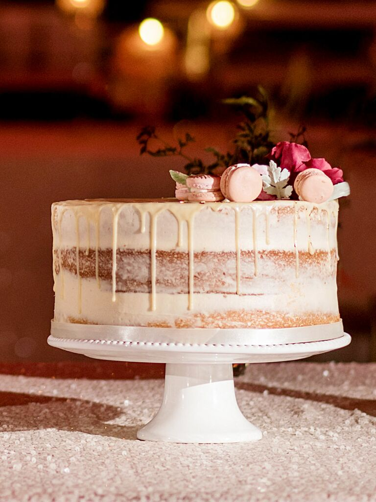 Wonderful Single Tier Wedding Cake Rustic Simple