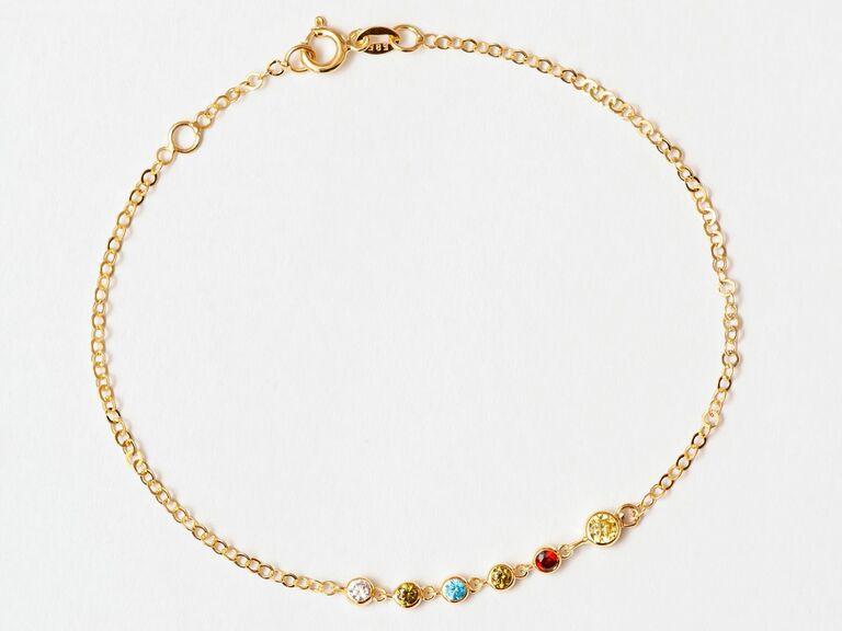 Birthstone bracelet 16th anniversary gift