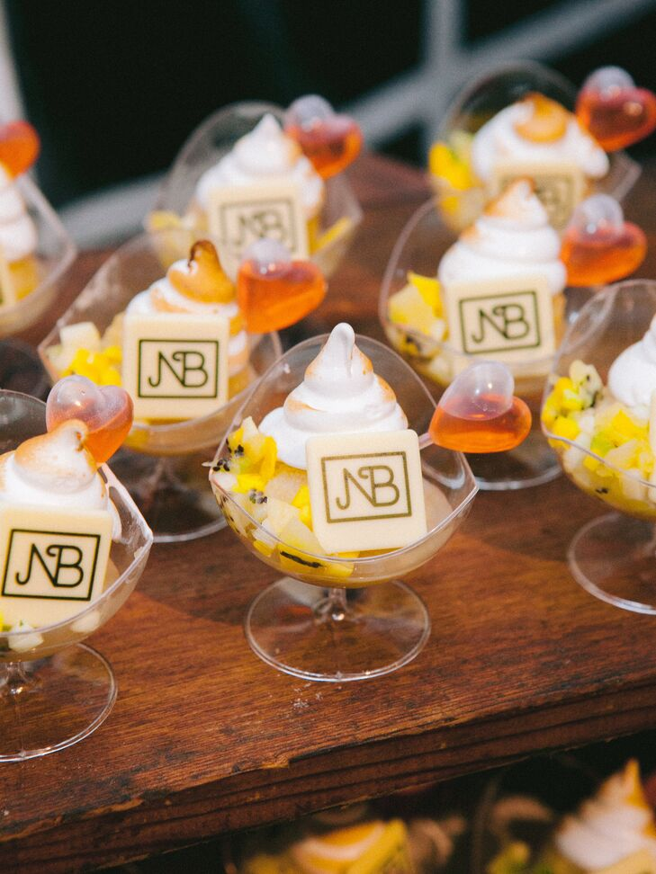 Desserts with Monogrammed Signs