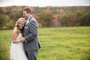 Rustic Fall Bride and Groom Photo