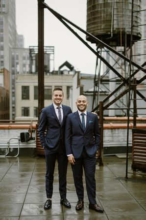 Same-Sex Portraits at Modern Loft Wedding in New York City
