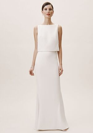 BHLDN Lady Bird Top & Park Avenue Skirt Sheath Wedding Dress