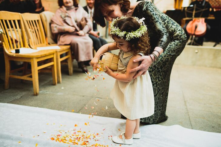 Flower Girl Pouring Out Ceremony Petals