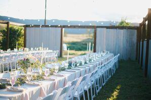 Romantic, Rustic Reception With Lush Greenery