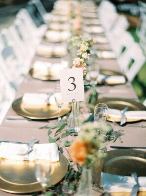 Gold and Blush-Hued Table Decor