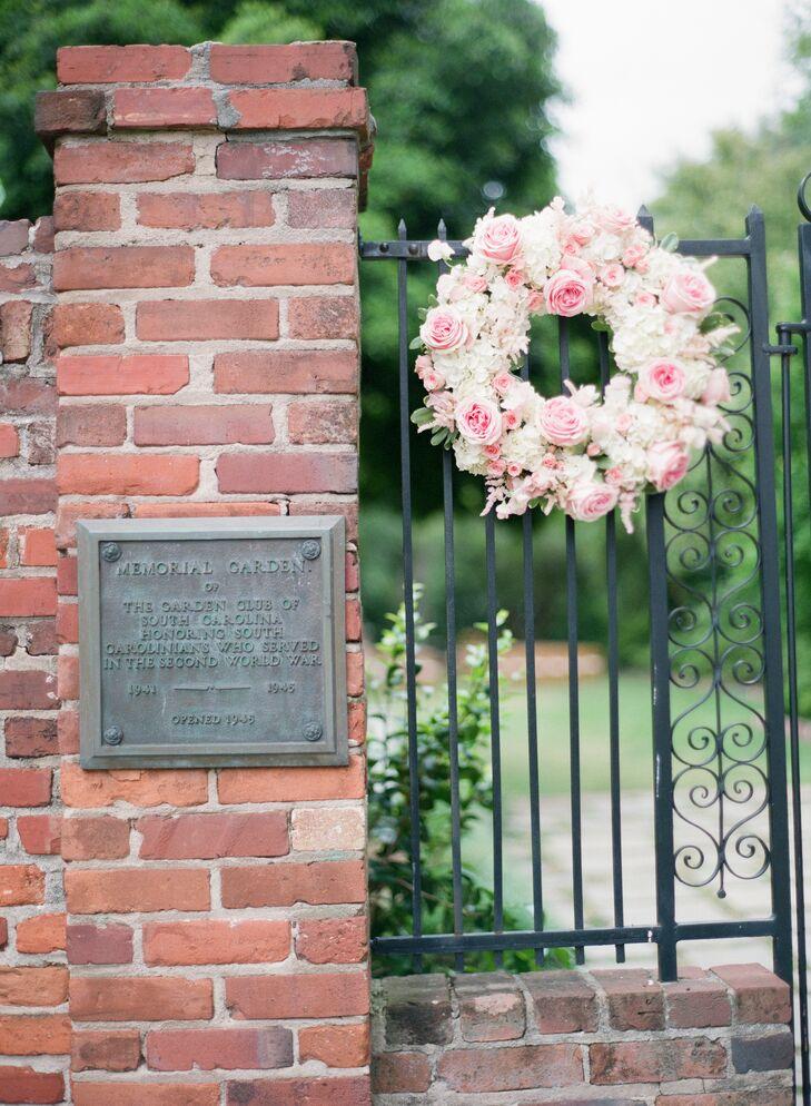 Pink Garden Rose Wreath