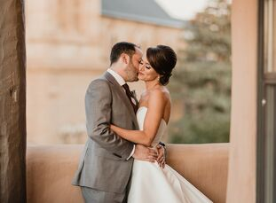 "Natalie Harding and Jason Fried celebrated the southwestern United States with their colorful, romantic wedding in Santa Fe, New Mexico. ""The color pa"