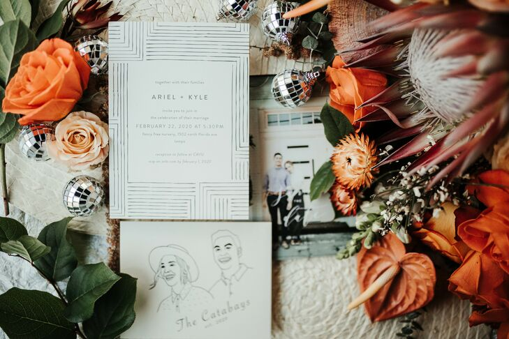 Boho Invitation Suite for Wedding at Fancy Free Nursery in Tampa, Florida