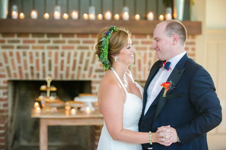 """""""Our first-dance song was 'Crazy Love' by Van Morrison, which was played by our bluegrass band, the Cattle in the Cane,"""" Chelsey says. """"We chose this song because when we were first dating that song came on the radio and Matt said it reminded him of me and our love."""""""