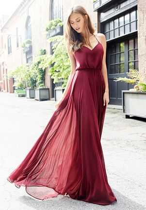 Hayley Paige Occasions 5752 V-Neck Bridesmaid Dress