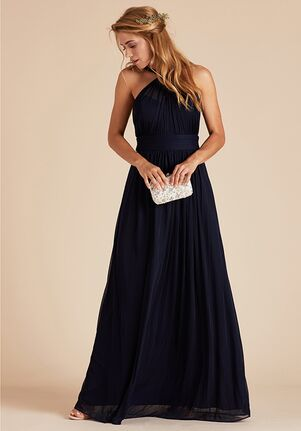 Birdy Grey Kiko Mesh Dress in Navy Halter Bridesmaid Dress