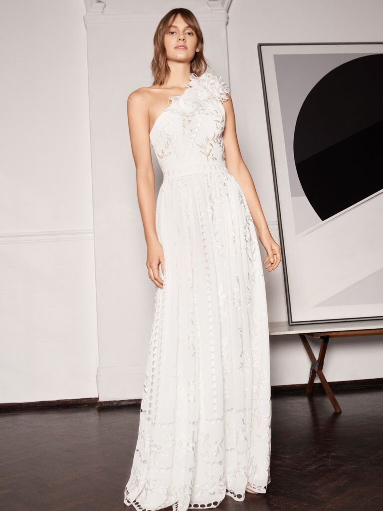 Whistles Wedding 2019 Bridal Collection one-shoulder A-line wedding