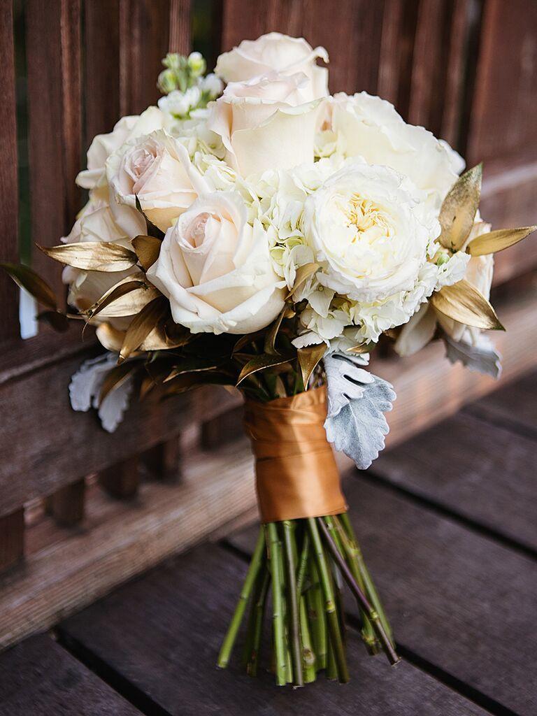 20 romantic white wedding bouquet ideas white and gold wedding bouquet izmirmasajfo Images
