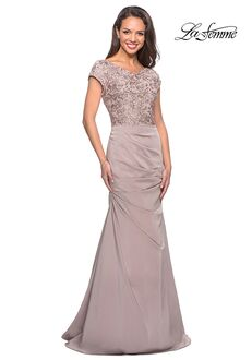 La Femme Evening 26806 Champagne Mother Of The Bride Dress