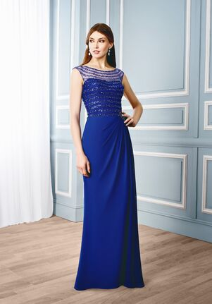 Val Stefani Celebrations MB7537 Blue Mother Of The Bride Dress