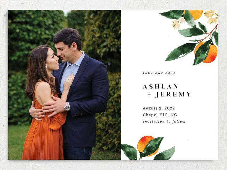 spain destination wedding save the date