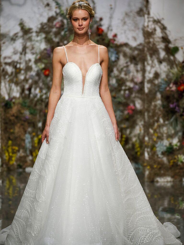 Morilee by Madeline Gardner Spring 2020 wedding dress with spaghetti straps