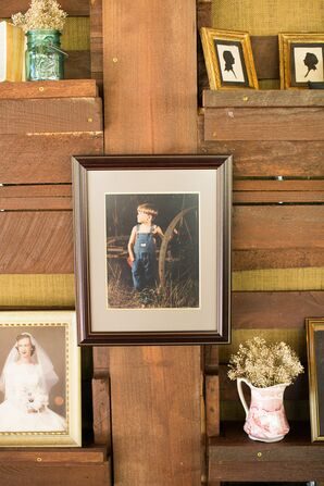 Rustic Reception Memory Wall
