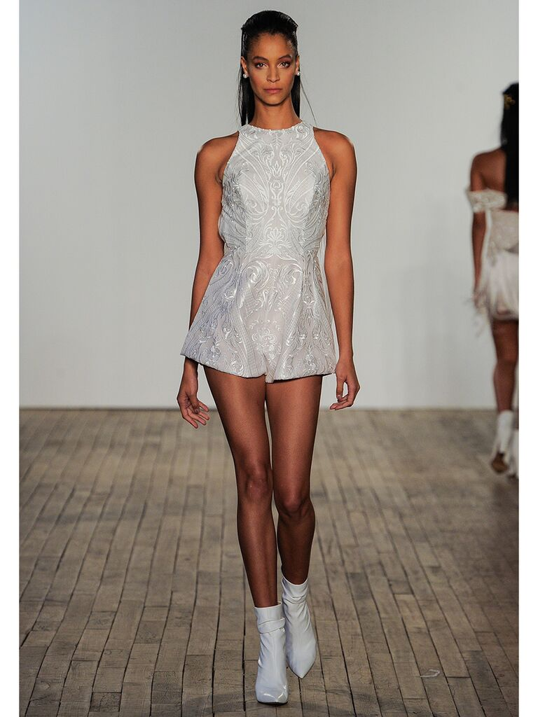 Embroidered Wedding Romper