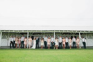 Wedding Party in Front of Stables