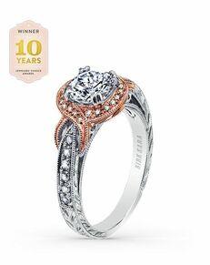 Kirk Kara Elegant Round Cut Engagement Ring