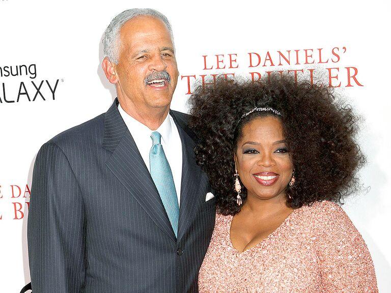 Oprah Winfrey and Stedman Graham famous celebrity couples