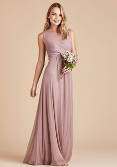 Birdy Grey Ryan Mesh Dress in Mauve Illusion Bridesmaid Dress