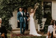 "Roxy Cafaro and Ross Tanick wed at a rustic farmette with a ""bohemian farm-chic"" theme in Longmont, Colorado.  ""Our vision was to blend the natural el"