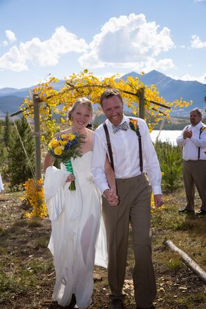 Sarah and Greg Recessional at Windy Point in Colorado