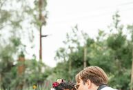 "Hosting a wedding that was sustainable and environmentally conscious was of utmost importance to Zoe-Raven and Spencer. ""Spencer is vegan and we both"