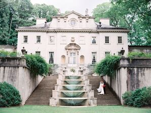 Grand Staircase and Fountain Outside Swan House at Atlanta History Center