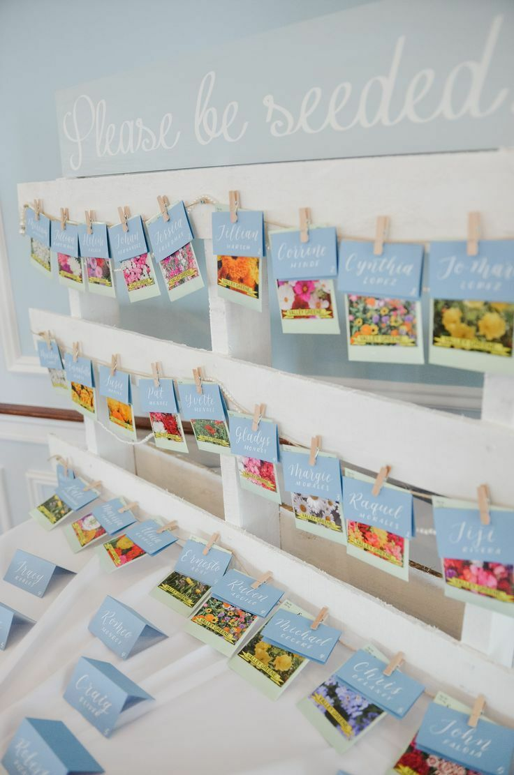 Seed packet escort card
