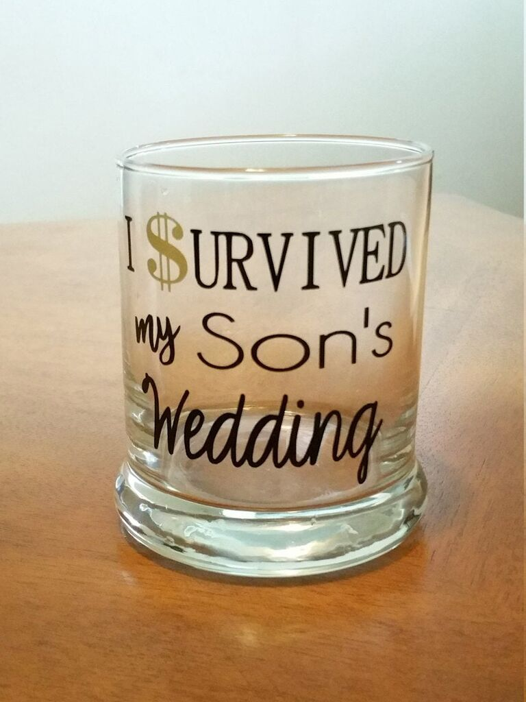 Funny glass father of the groom gift