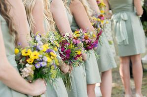 Local Wildflower Bridesmaid Bouquets