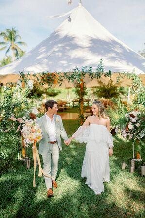 Couple Portraits at Bohemian Wedding in Naples, Florida