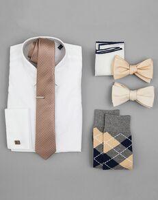 The Tie Bar Wedding Accessories Champagne Wedding Accessories Brown, Champagne Tuxedo