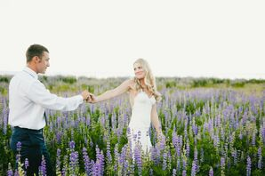 Couple in Field of Lavender