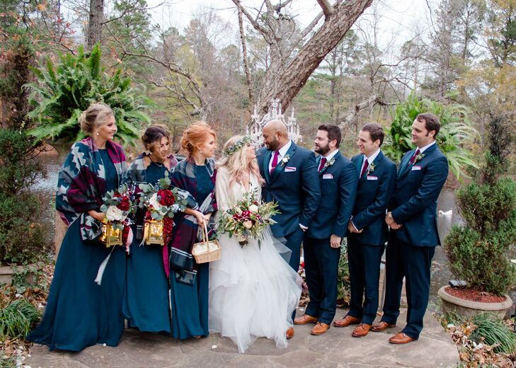 Classic Navy Wedding Party Attire