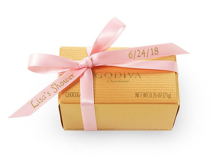 godiva chocolate gold favor