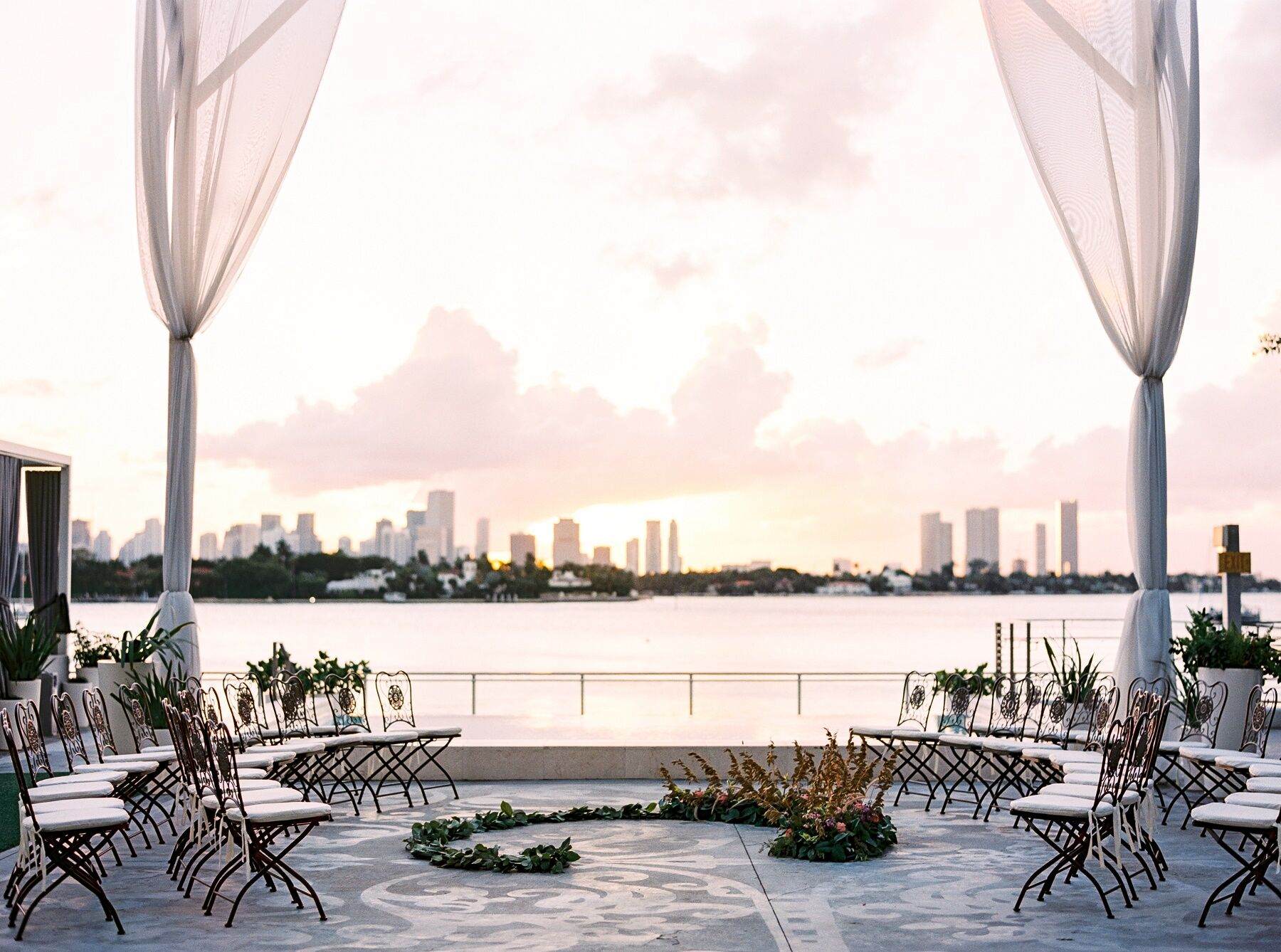 Ocean View in the Mondrian Miami Beach Wedding Venue