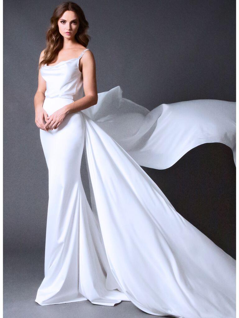 ROMONA New York RB024 silk blouson wedding dress