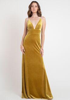 Jenny Yoo Collection (Maids) Madden V-Neck Bridesmaid Dress