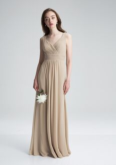 #LEVKOFF 7004 V-Neck Bridesmaid Dress