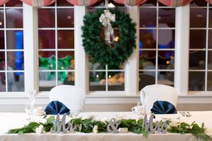 White Rose and Pine Garland