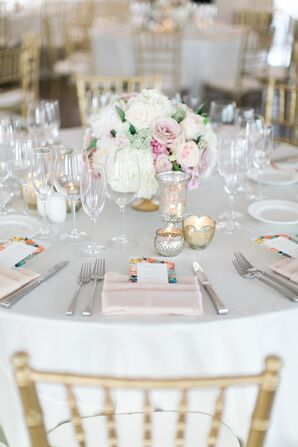 Simple, Romantic Table Setting