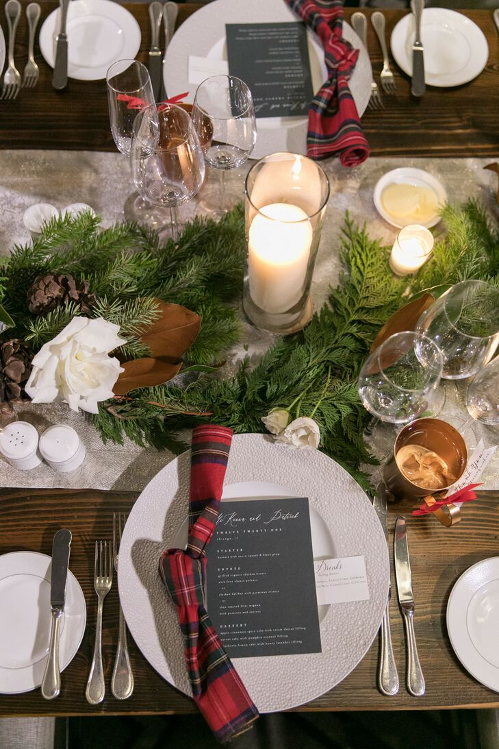 McKenna and Patrick decked the halls during the most wonderful time of the year, swapping vows and sealing the deal with a kiss (no mistletoe needed).