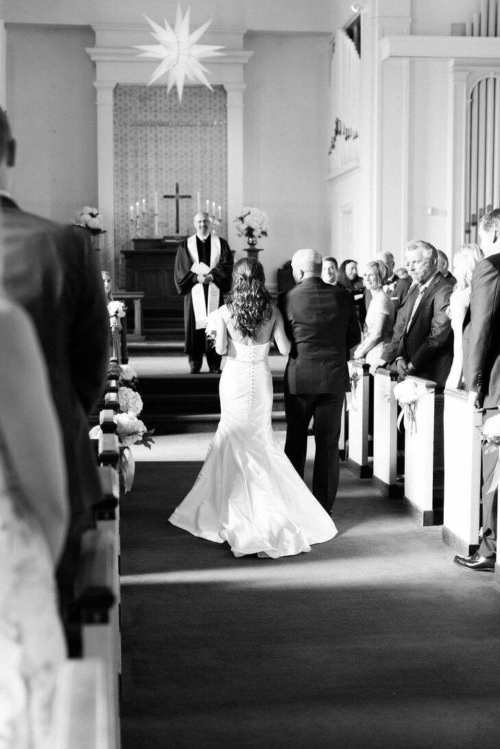 Nina and Matt were married in a traditional Christian ceremony before inviting guests to the reception at the Duke Mansion in Charlotte, North Carolina.