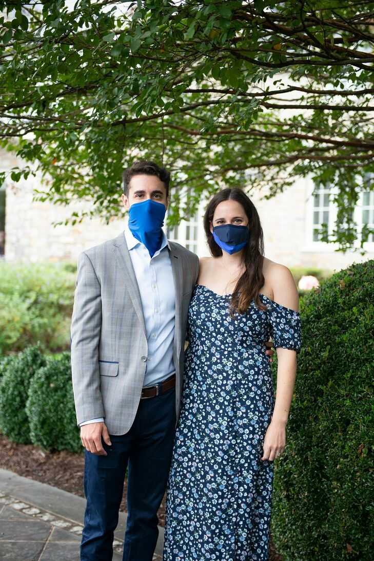 Guests Wearing Masks During Socially-Distanced Backyard Microwedding